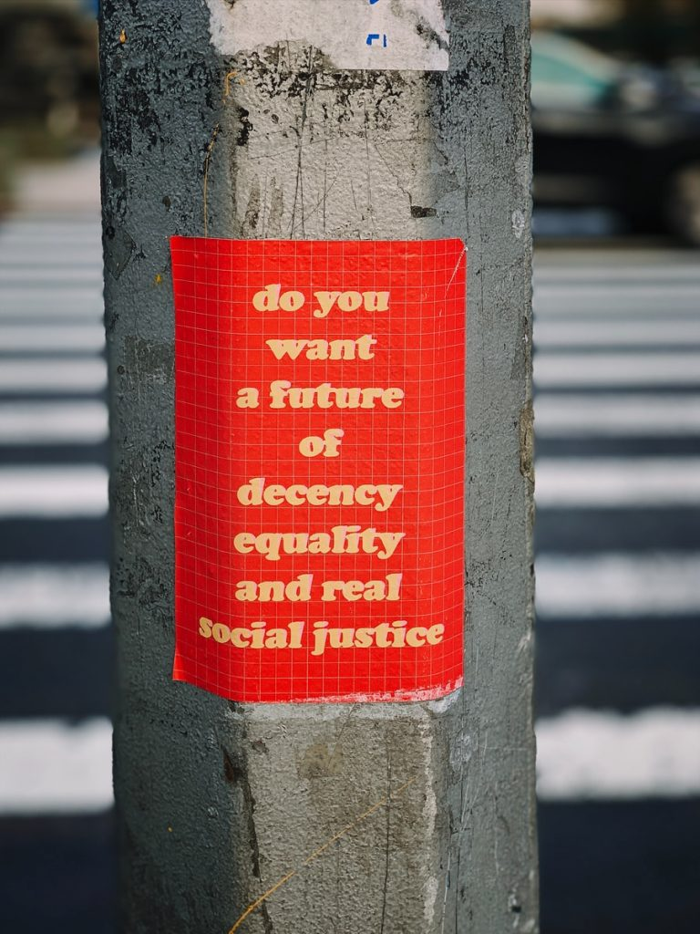 do you want a Future of Decency Equality and real social justice wall decor